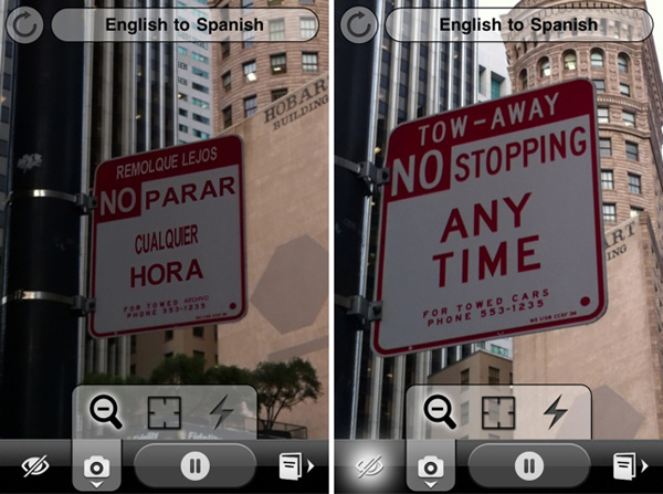 Word Lens - перевод слов на фотографиях